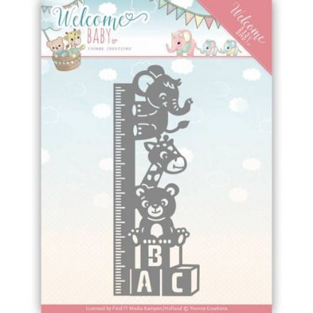 YCD10136 ~ Growth Chart ~ Welcome Baby ~ Yvonne Creations